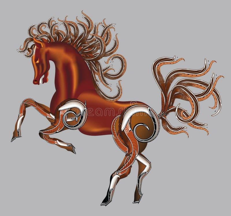 Download Horse fantasy stock illustration. Image of design, curl - 26942486