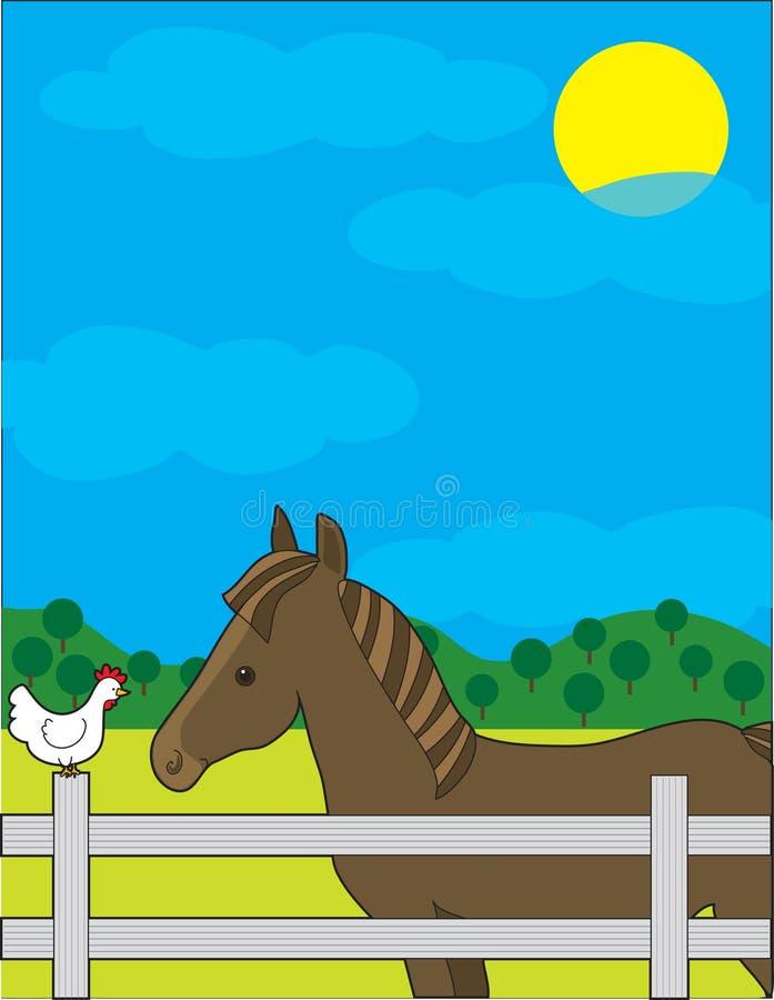 Horse Farm royalty free illustration