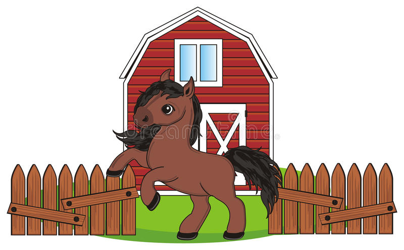 Horse and farm stock illustration