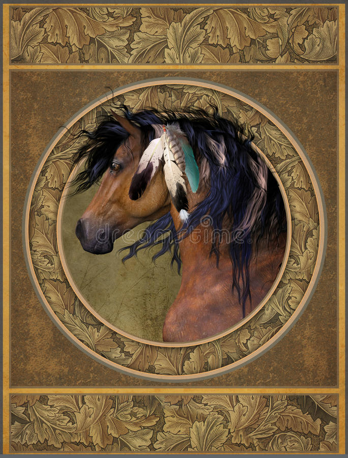 Download Horse with feathers stock illustration. Image of emblem - 30642652