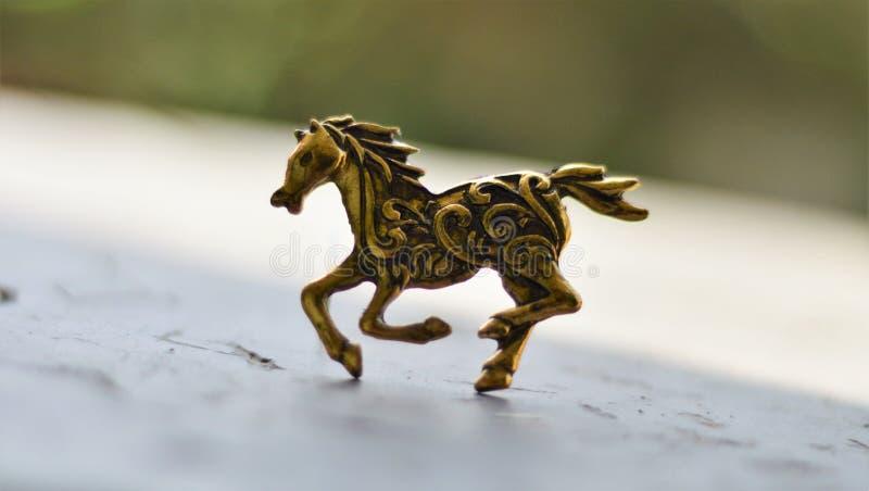 Horse figurine stock photo