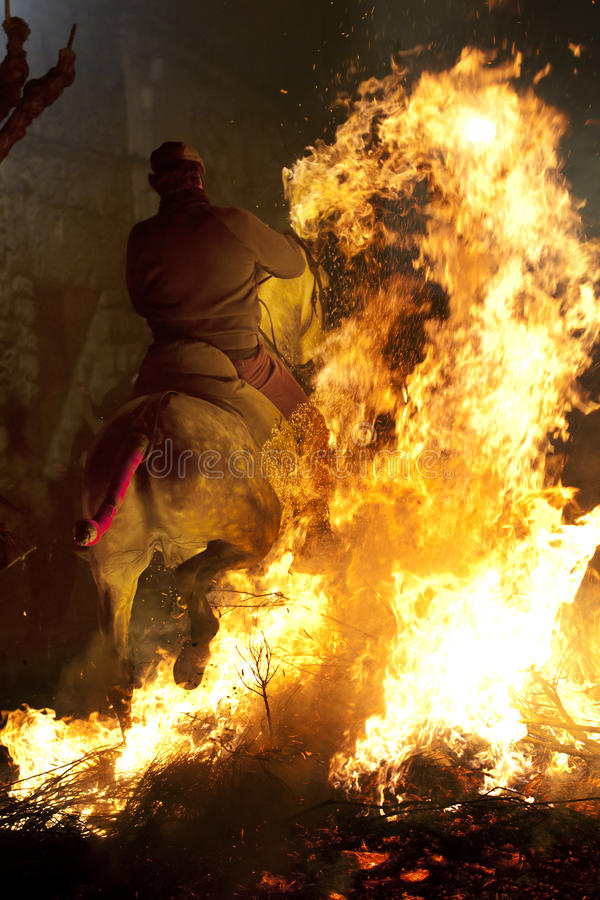 Horse and fire stock photos