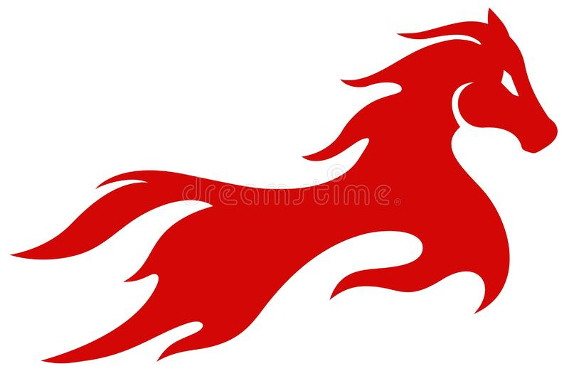 Red Horse Flame royalty free stock images