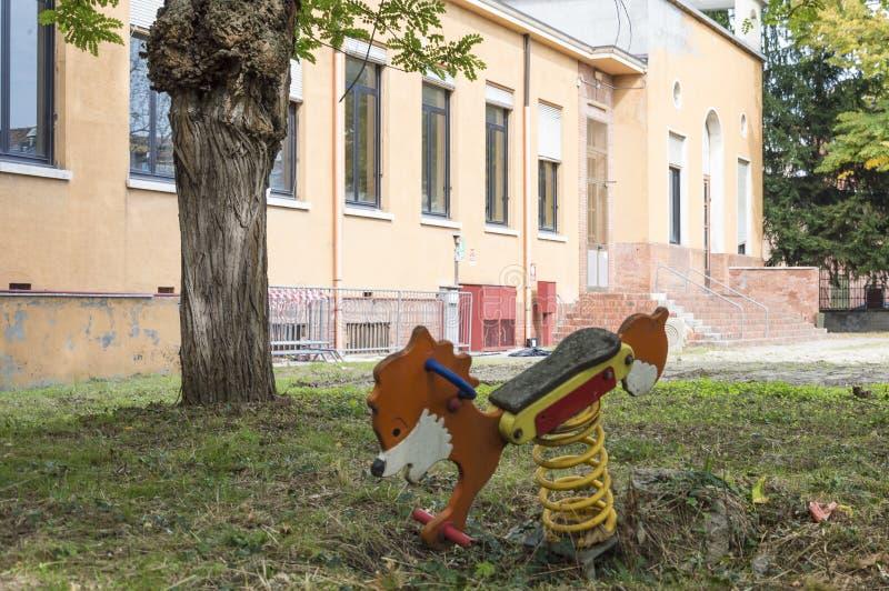 Horse Garden Toy stock image
