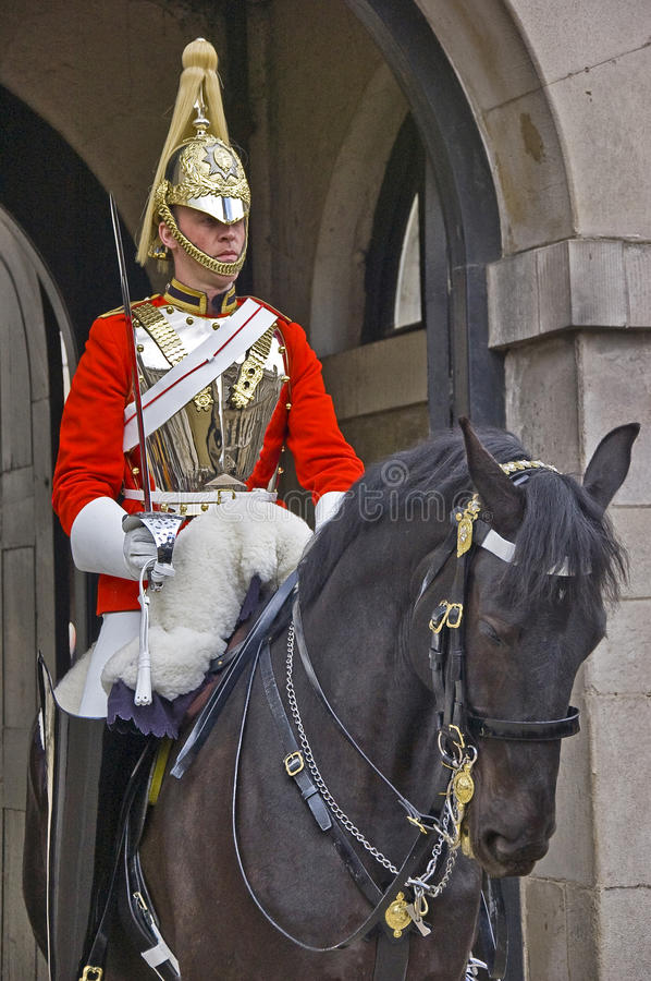 Horse Guard. At his headquarters in London royalty free stock photography
