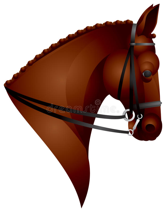 Download Horse Head stock vector. Image of horse, race, animal - 15129970