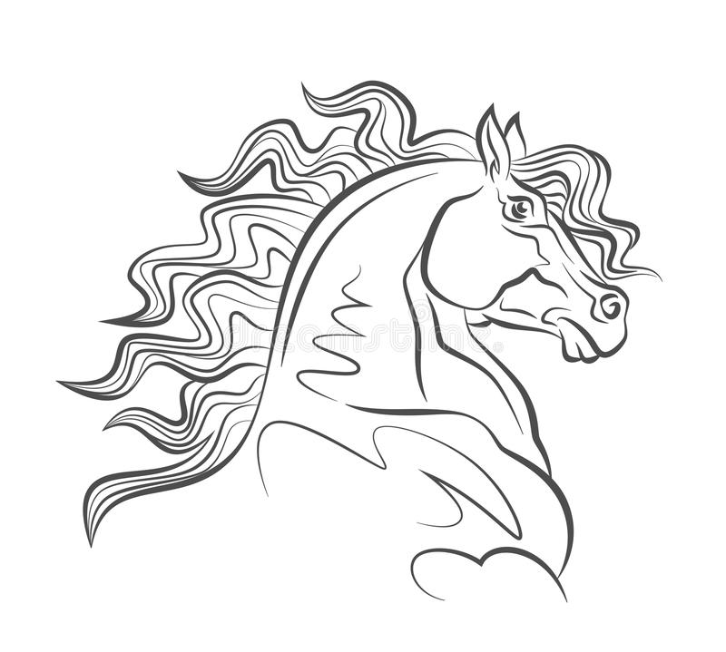 Horse head royalty free illustration