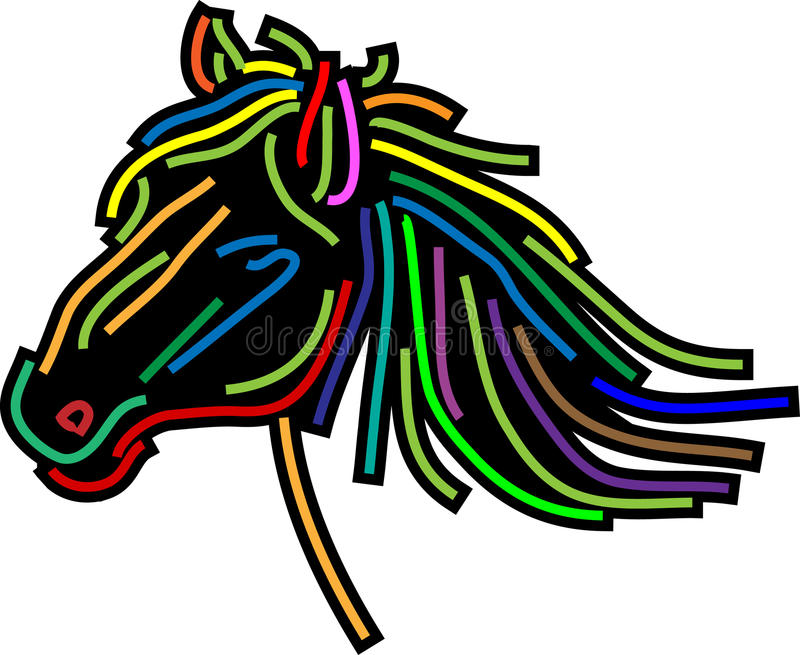 Horse head abstract royalty free illustration