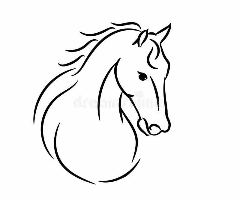 horse head graphic logo template vector illustration on white