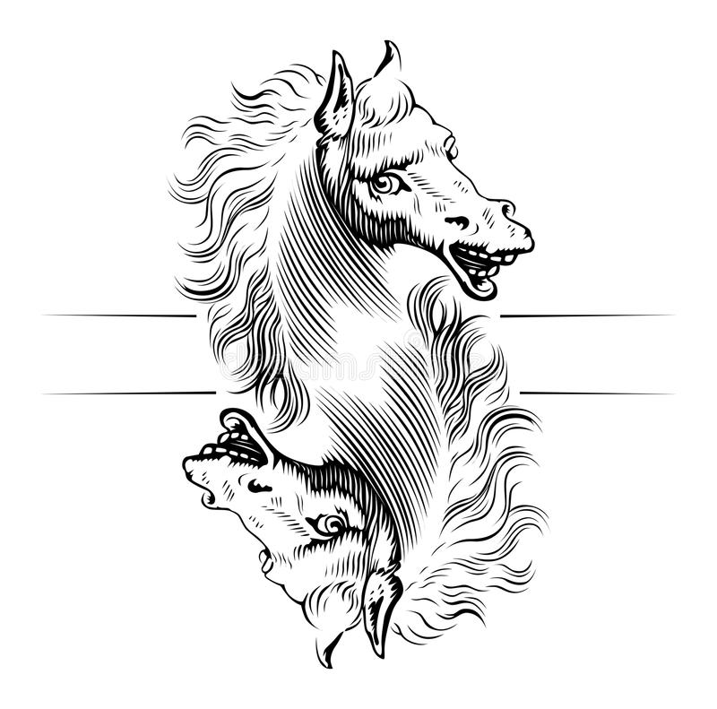 Horse Head Icon Royalty Free Stock Images