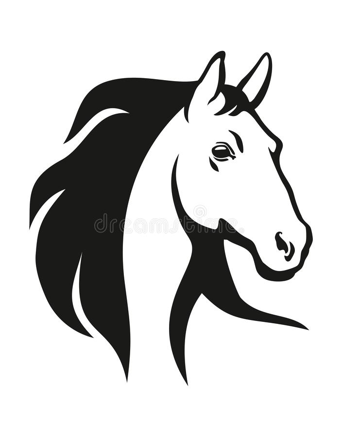 Horse head illustration stock images