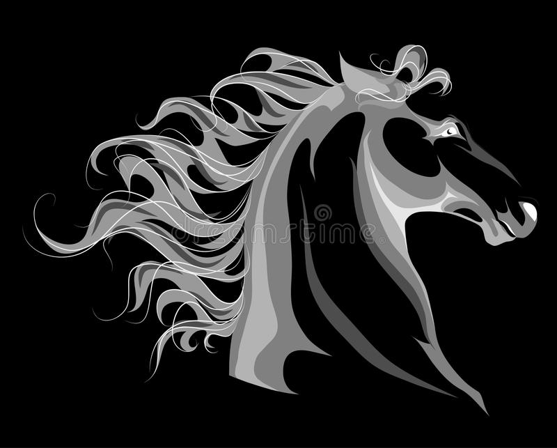 Horse head negative royalty free stock images