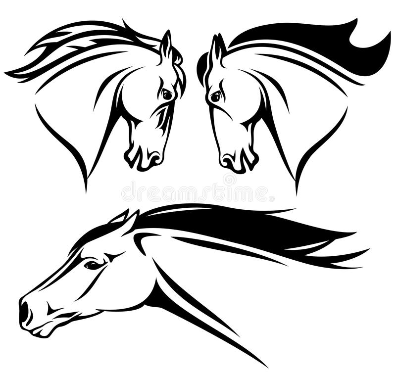 Horse head vector royalty free illustration