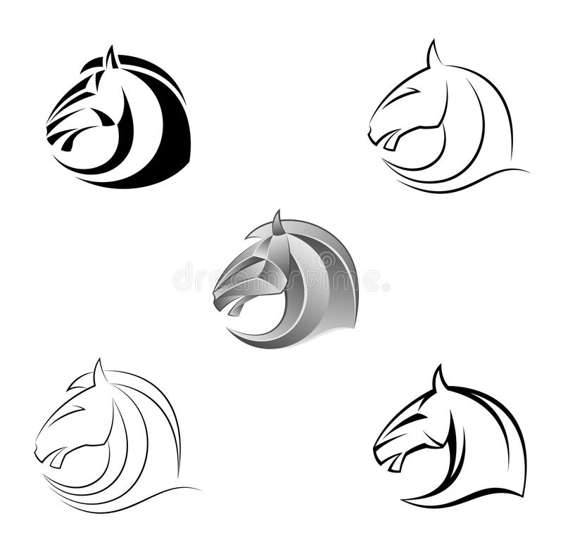 Download Horse head stock vector. Image of equine, equestrian - 31522050