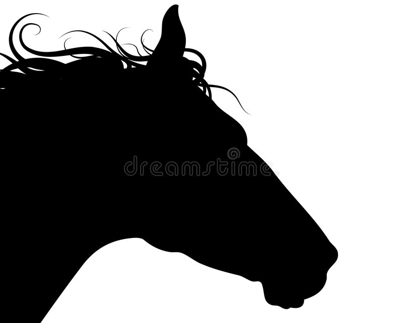 Horse Head Silhouette Royalty Free Stock Images