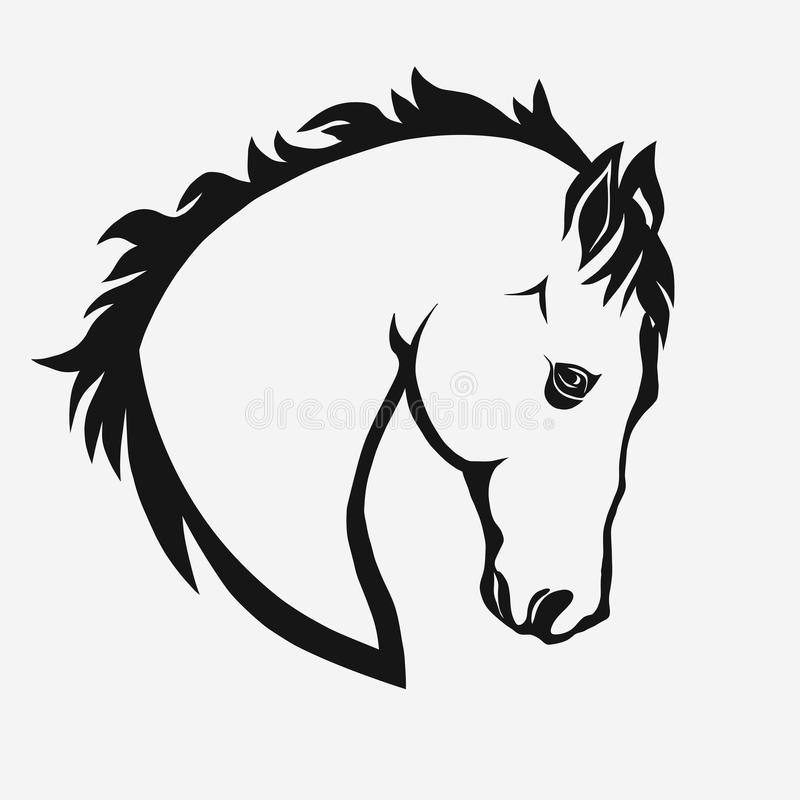 Horse head vector stock vector. Illustration of graphic - 84848579