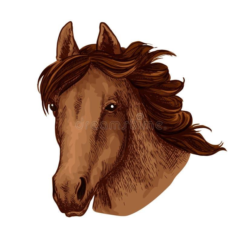 Horse animal muzzle vector sport team mascot icon royalty free illustration