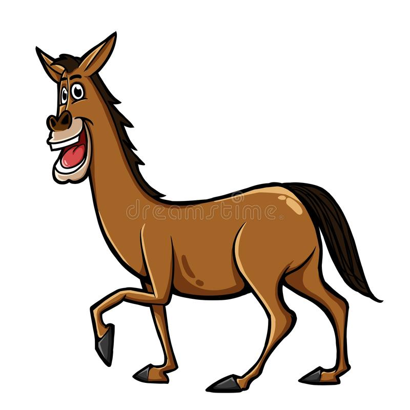 Download Horse stock illustration. Image of portrait, comic, mouth - 35653239