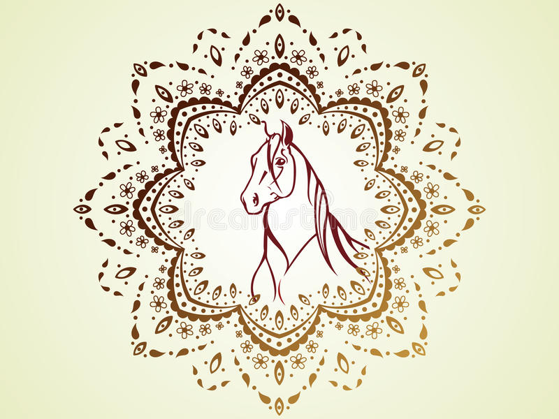 Horse 08 Stock Vector Illustration Of Islam Design 44750309