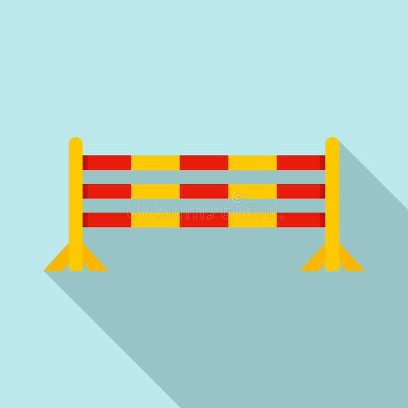 Horse jump obstacle icon, flat style royalty free illustration