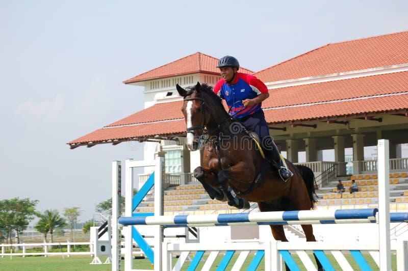 Horse Jumping Editorial Stock Photo