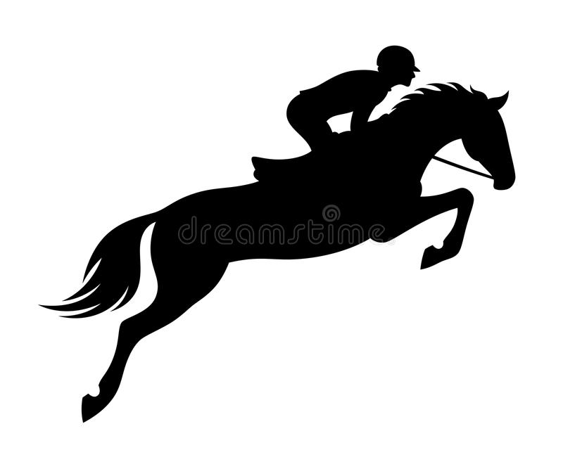 Horse jumping stock illustration