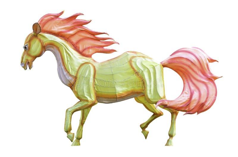 Horse lantern isolated on white stock photos