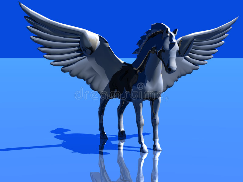 Download Horse like a bird stock illustration. Image of horse, rear - 1494688