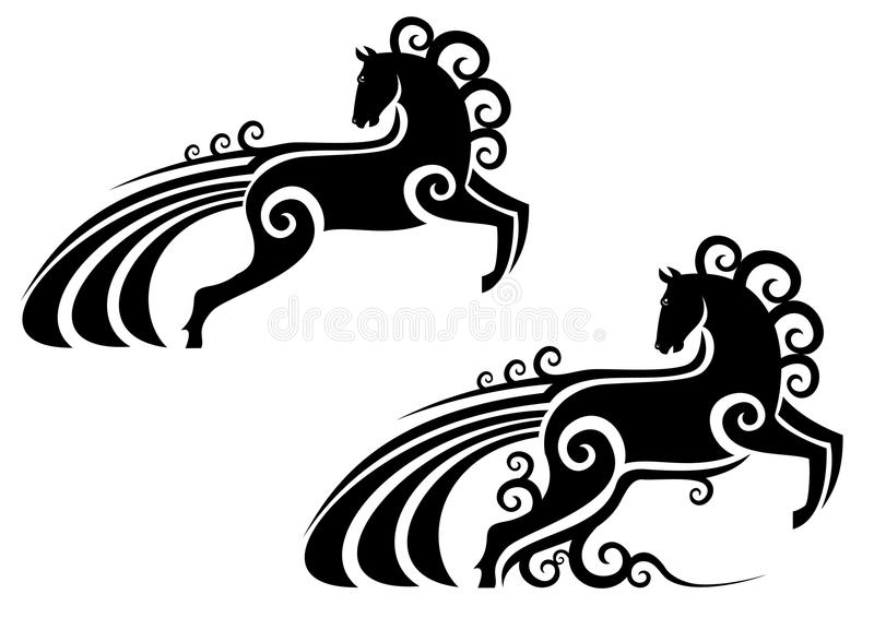 Horse mascot royalty free stock images