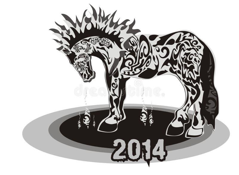 Horse 2014 stock photos