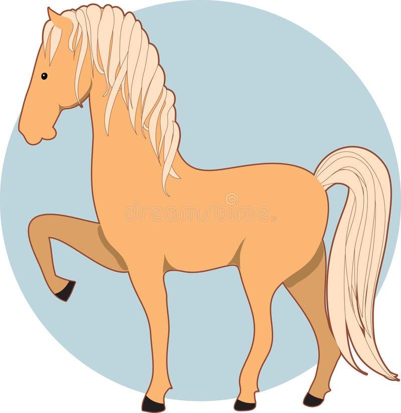 Horse Palomino vector illustration