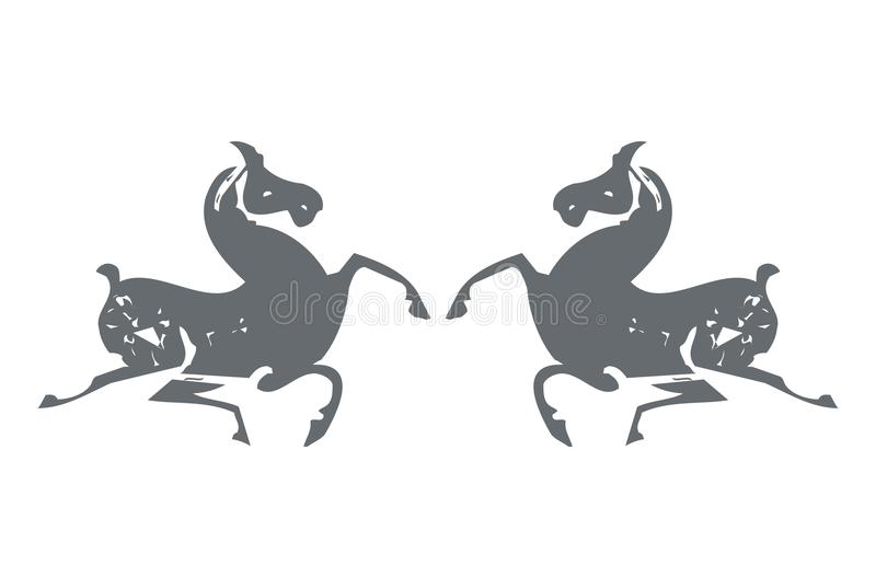 Download Horse Paper Cuttings stock illustration. Image of traditional - 9891741