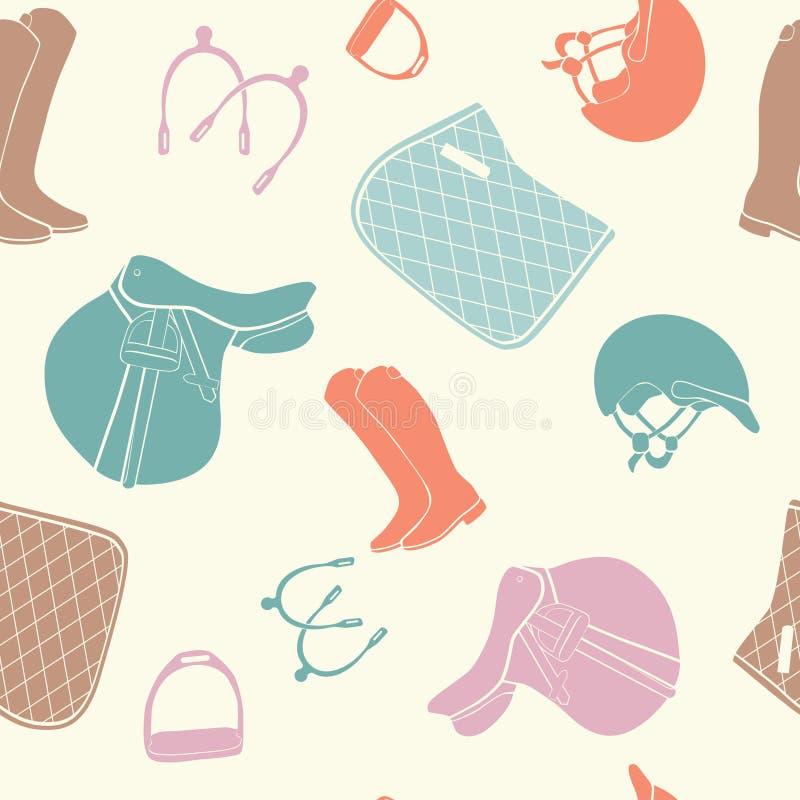 Horse pattern vector illustration