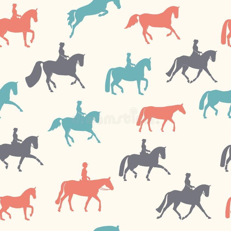 Horse pattern royalty free illustration