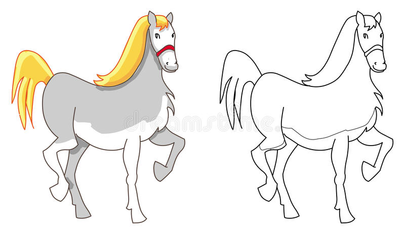 Download Horse pony outline stock vector. Image of cartoon, drawing - 20699807