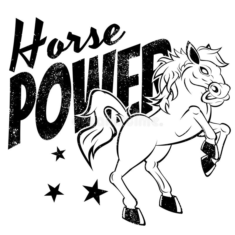 Download Horse power stock vector. Image of isolated, power, strong - 32880493