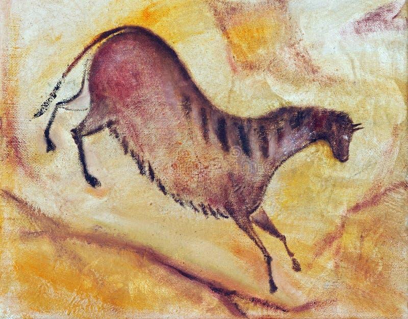 Horse in prehistoric style vector illustration