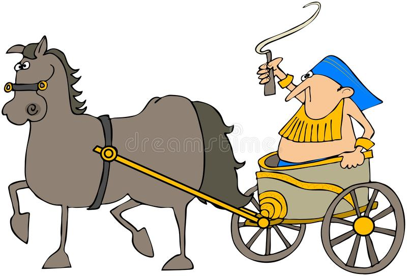 Download Horse Pulling A Chariot stock illustration. Image of egyptian - 19388472