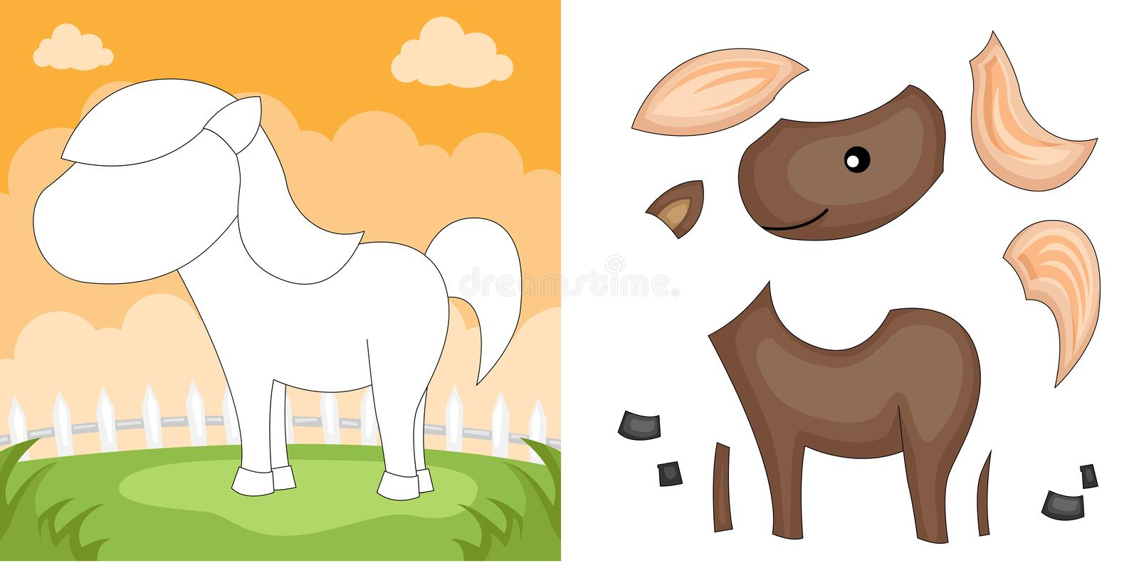Download Horse Puzzle Stock Photos - Image: 24052153