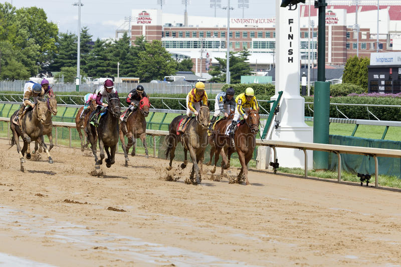 Horse races at Churchill Downs royalty free stock photography