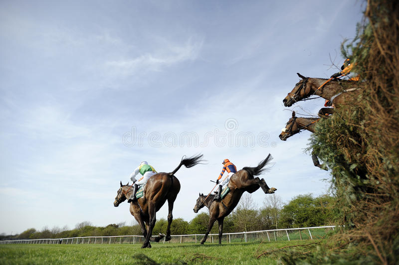 Horse Racing. At The Grand National,Aintree,Liverpool,England 2011 royalty free stock photo