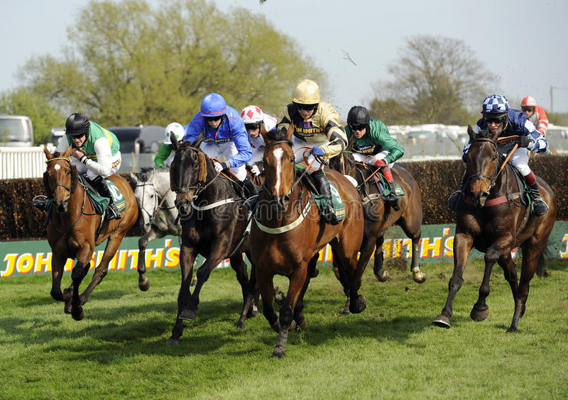 Horse Racing. At The Grand National,Aintree,Liverpool,England 2011 royalty free stock image