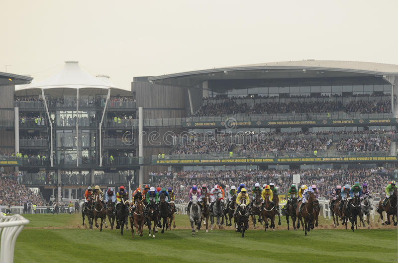 Horse Racing. At The Grand National,Aintree,Liverpool,England 2011 stock photography