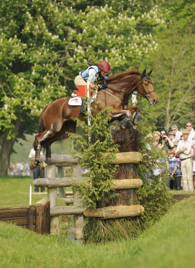 Horse Racing. Vicky brake riding looks like fun Badminton horse trials 2011 royalty free stock image