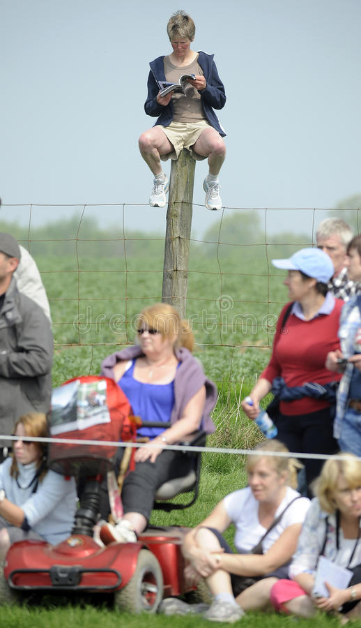 Horse Racing. POLE POSITION for the Lancer Village, Mitsubishi Motors Badminton Horse Trials, 2011 royalty free stock images