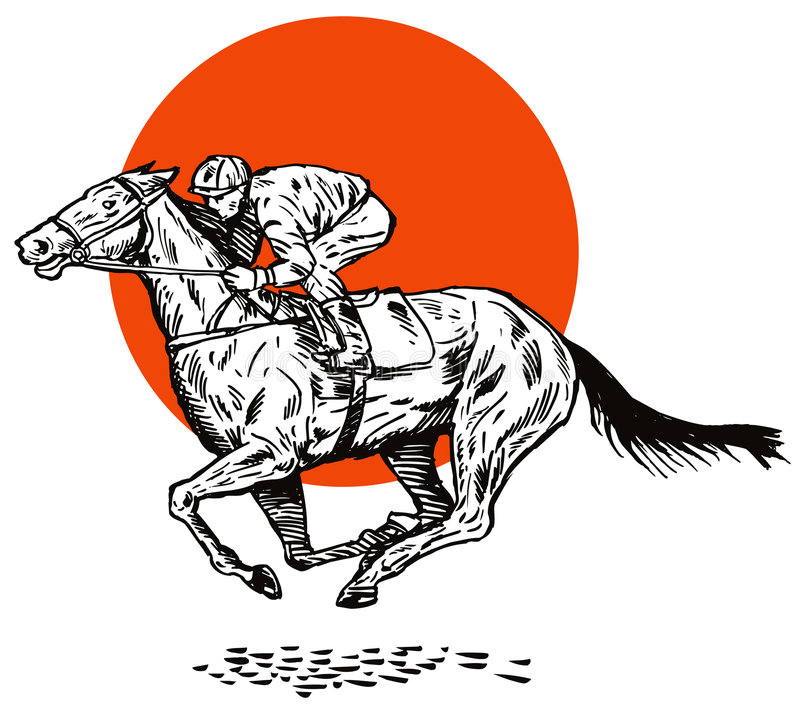 Horse racing vector illustration