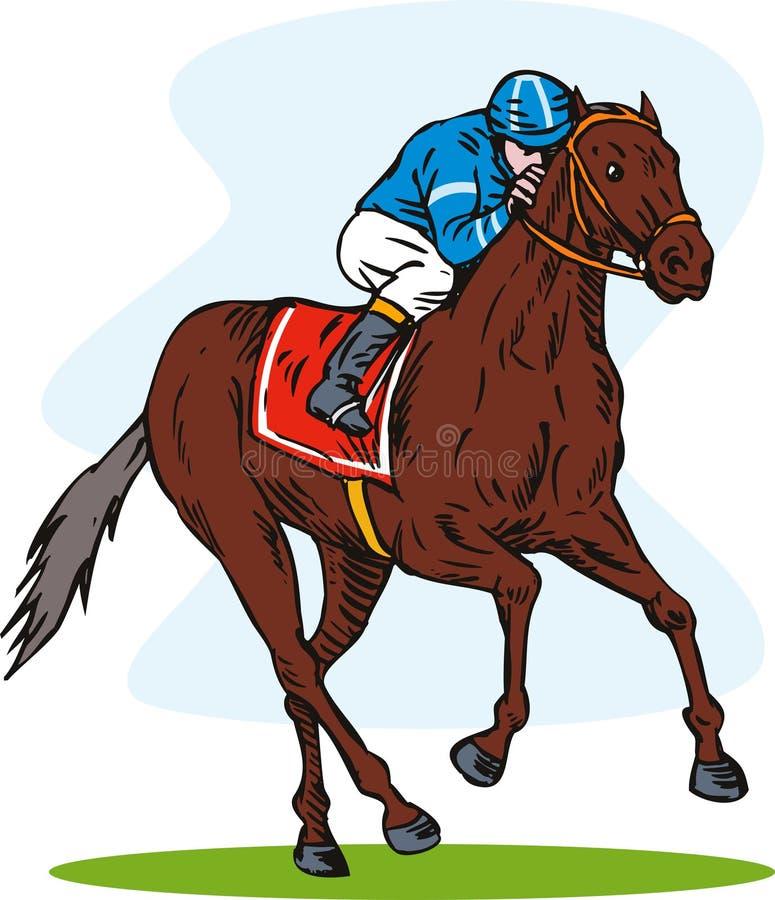 Download Horse racing stock illustration. Illustration of background - 6579960