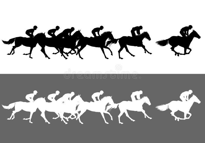Horse racing stock illustration