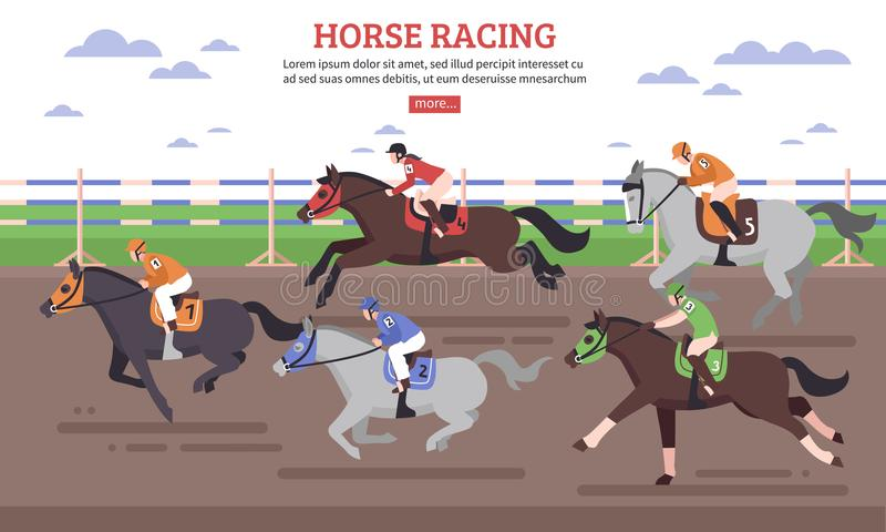 Horse Racing Illustration vector illustration