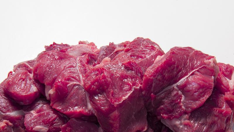Horse raw fresh meat. Healthy diet stock photography